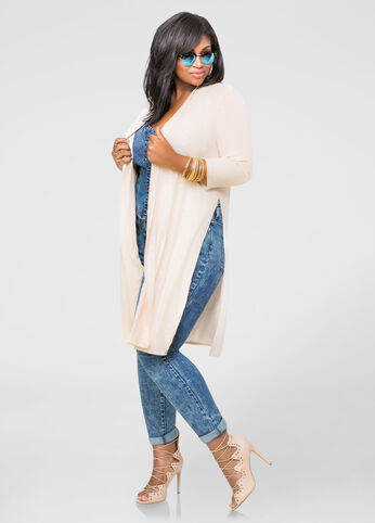 High Slit Duster Cardigan