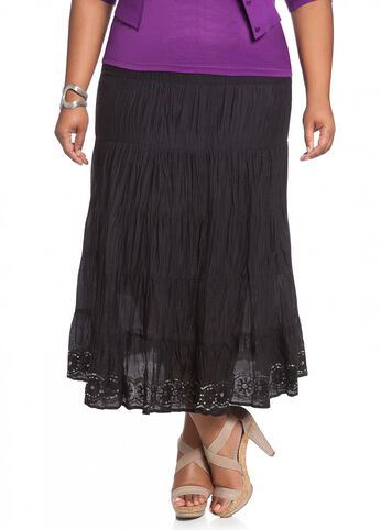 Cotton Voile Tiered Skirt