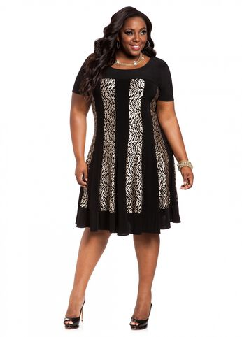 Web Exclusive: Animal Referee Print Dress