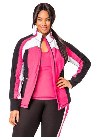 Pink Colorblock Sport Jacket