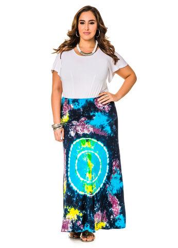 Horoscope Tie Dye Maxi Skirt