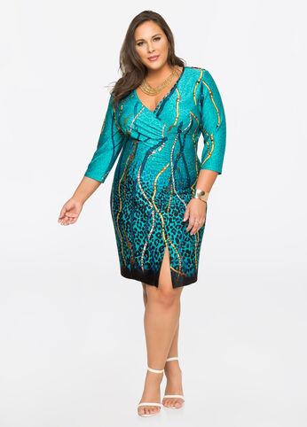 Status Front Slit Dress