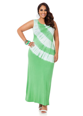 Rhinestone Studded Tie Dye Maxi Dress