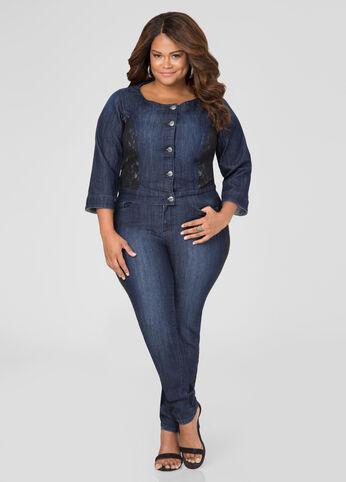 Floral Lace Skinny Jean
