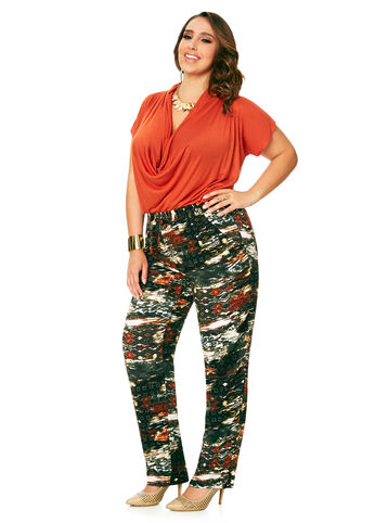 Relaxed Abstract Camo Pull-On Pant