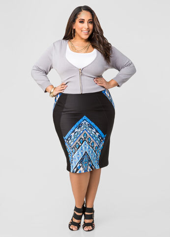 Tribal Scuba Pencil Skirt