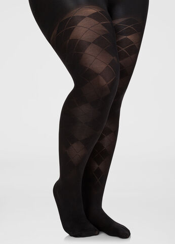 Opaque Argyle Footed Tights