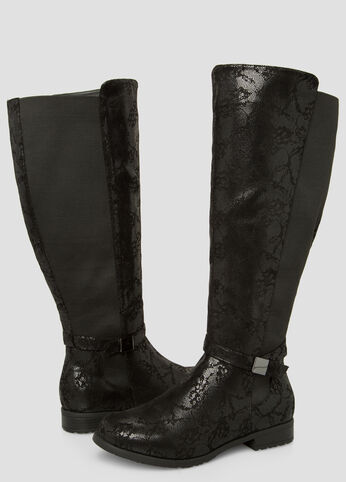 Floral Over The Knee Boot - Wide Calf Wide Width