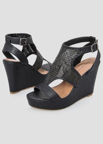 Basket Wedge Sandal - Wide Width