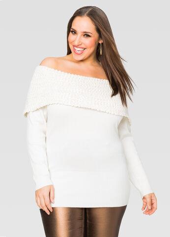 Popcorn Knit Marilyn Sweater