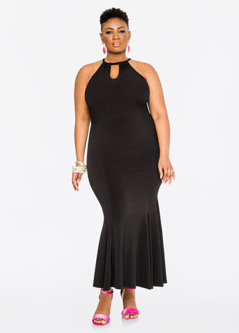 Halter Mermaid Maxi Dress