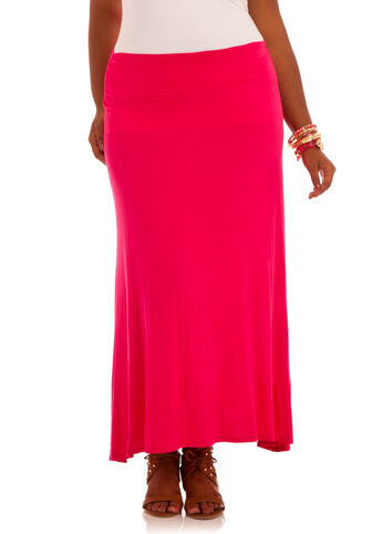 Long Rayon Span Skirt