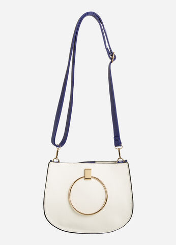 Circle Handle Crossbody Bag