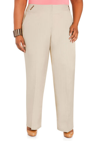 Studded High Waist Linen Pants