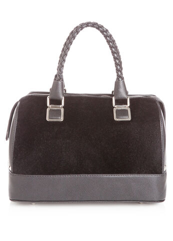 Fur and Pleather Satchel