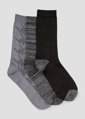 3-Pack Oversized Houndstooth Socks