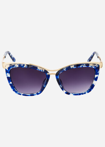 Splatter Paint Cat Eye Sunglasses