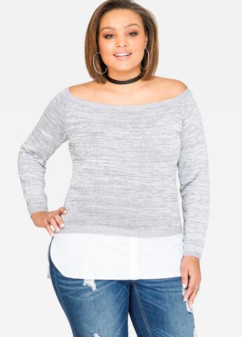 Shirttail Hem Marilyn Sweater