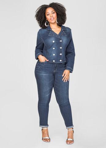 Stone Embellished Skinny Jean