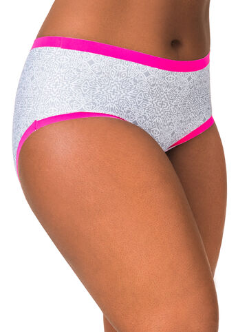 Printed Laser Cut Hipster Panty