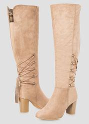 Tassel Detail Boot - Wide Calf, Wide Width