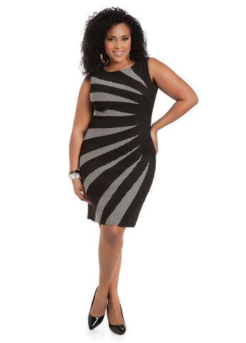 Dot Pattern Sunburst Dress