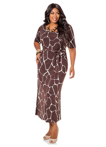 Giraffe Print Maxi Dress