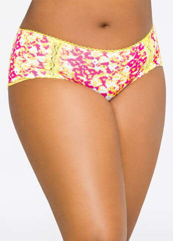 Printed Lace Hipster Panty