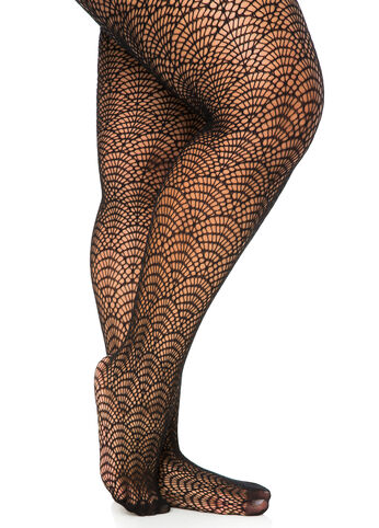 Vintage Fan Footed Tights