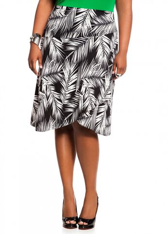 Tropical Print Short Skirt