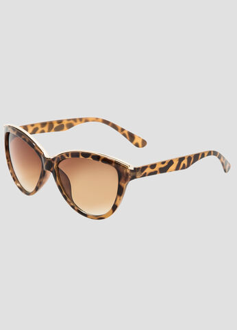 Metal Brim Large Cat Eye Sunglasses