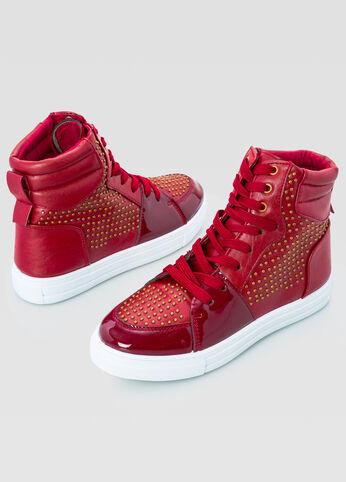 All Over Stud High Top Sneaker - Wide Width