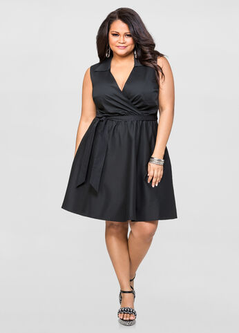 Surplice A-Line Dress