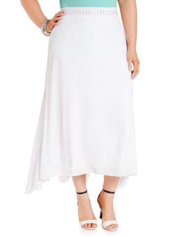 Rhinestone Embellished Maxi Skirt