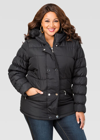 Short Puffer Winter Coat