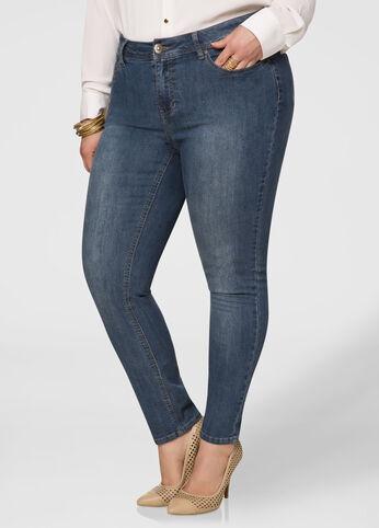Tall Medium Wash Five Pocket Skinny Jean