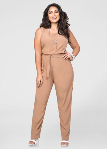 Straight Leg D-Ring Jumpsuit