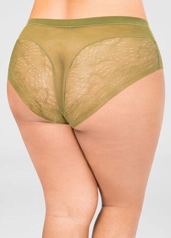 Floral Lace Mesh Brief Panty