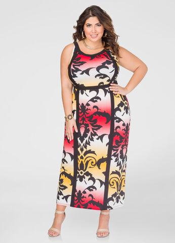 Printed Tank Maxi Dress