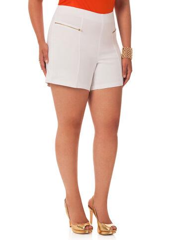 Double Zipper Short Shorts