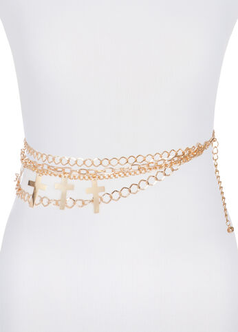 Tiered Cross Chain Belt