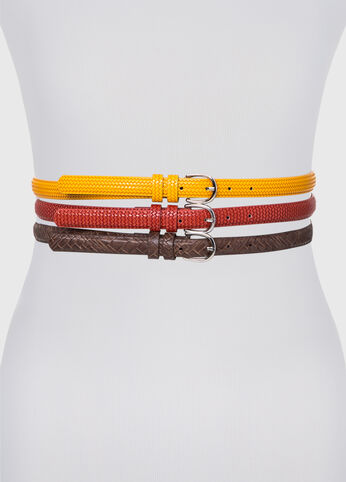 Solid Textured Belt Trio