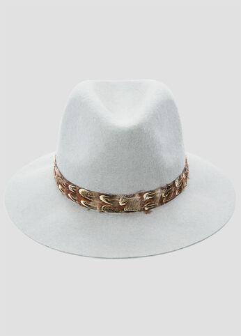 Feather Trim Panama Hat