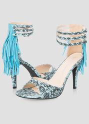 Fringe Dress Sandal - Wide Width