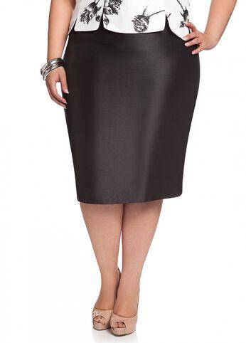 Shantung Pencil Skirt