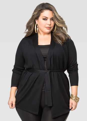 Hint Of Cashmere Belted Cardigan