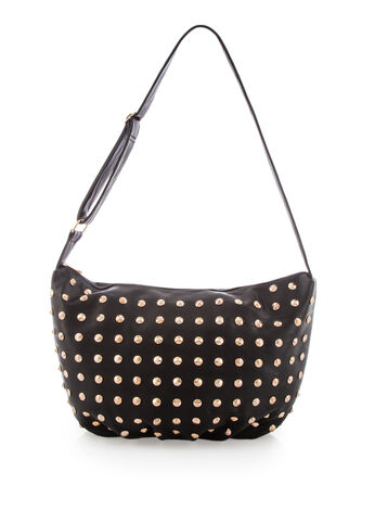 Large Stud Crossbody Hobo
