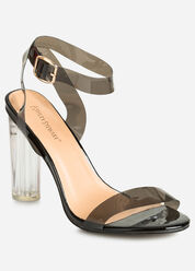 Strappy Lucite Sandal - Wide Width