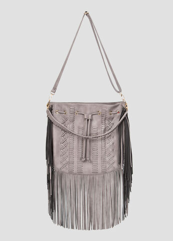 4-In-1 Fringe Hobo Bag