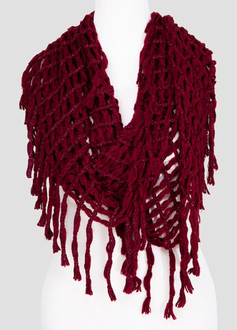 Oversized Crochet Infinity Scarf at Ashley Stewart